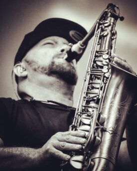 Jon Berman on saxophone